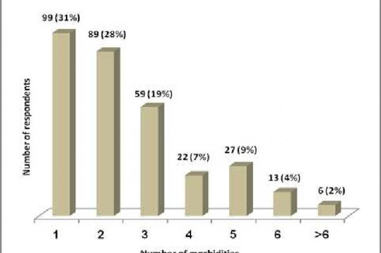 Distribution according to type of health worker visited for morbidities